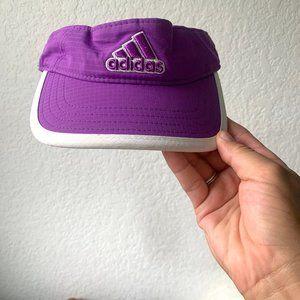 adidas Purple white small logo visor golf visor